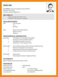 Resume Template For Job Application Resume For Job Application Format  Complete Resume Examples Template