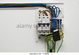 fusebox house stock photos fusebox house stock images alamy electric wiring and fusebox in a house stock image