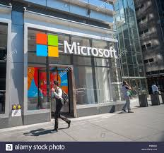 microsoft office company. The New York Offices Of Microsoft Company On Eighth Avenue Friday, August 7 Office P