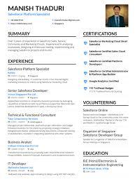My Single Page CV SfdcFanBoy Classy Salesforce Resume