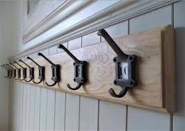 School Coat Racks Vintage Style Solid Wood Oak Coat Rack Cast Iron School Style 39