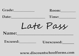 Hall Passes Templates Inspiring Receipt Template 122 Free Printable