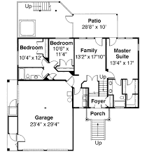 Tri Level House Plan   Loft Overlook   DA   st Floor    Reverse Floor Plan Pinit white