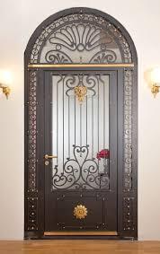 art nouveau steel front door
