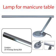 silver metallic 20w t5 tulb ce professional nail tools nail salon desk table lamp for nail