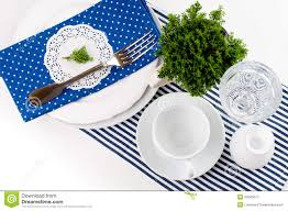 Table Setting For Breakfast Table Setting For Breakfast Royalty Free Stock Photography Image