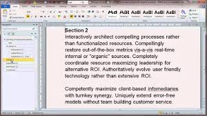 Office Word Format Creating Structured Documents In Microsoft Word 2010