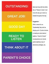 Color Behavior Chart For Kids List Of Color Chart For Kids Behavior Free Printable