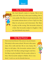 English Essay My Best Friend Writing Skill Grade 2 My Best Friend 2 English