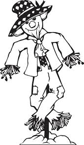 Small Picture FREE Printable Scarecrow Coloring Page for Kids 2
