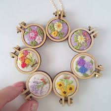 set includes a wooden frame 2 wood chips 1 2 nuts finished show rosebeading cross stitch mini frame tiny pendant