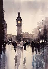 big ben london watercolour