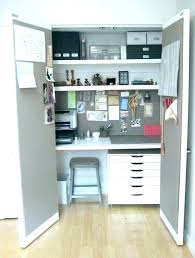 closet office desk. Closet Office Desk Ideas To Home Computer View In Gallery Space 9 D . E