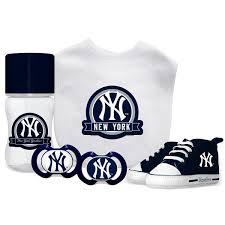 new york yankees mlb 5 pc infant gift set on orders over 45 overstock 19267307