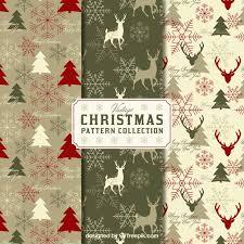 vintage christmas pattern. Perfect Christmas Pack Of Vintage Christmas Patterns Free Vector To Vintage Christmas Pattern