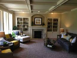 Living Room:Fascinating Warm Colours For Living Rooms With Brick Stone  Fireplace And Oval Shape