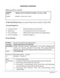 Outstanding Resume For Icici Bank Po 61 For Your Example Of Resume with  Resume For Icici Bank Po