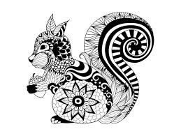 Small Picture Zentangle squirrel by bimdeedee Animals Coloring pages for