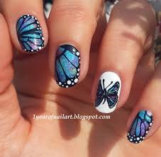 365+ days of nail art: Butterfly nails