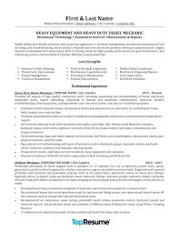 Mechanic Resume Sample Service Technician Resume Sample Field ...