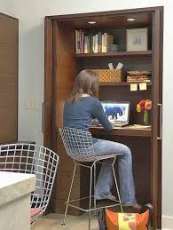 hide away office. Folding Doors For A Hideaway Office. Small Alcove Becomes An Instant Home Office When Hide Away