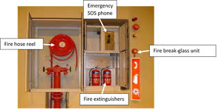 fire service cabinet with emergency sos phone