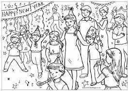 Small Picture Happy New Year Party coloring page free printable Holiday