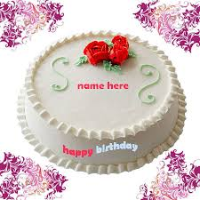 Write Name On Birthday Cake Gif Image White Cake Gifaya