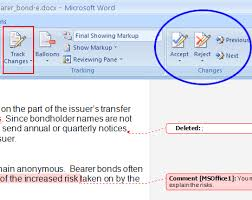 2007 Microsoft Word Track Changes Instructions