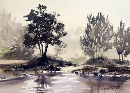 into the morning light watercolor painting at yarramundi