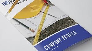 Tefo Construction - Tri-Fold - Company Profile Design