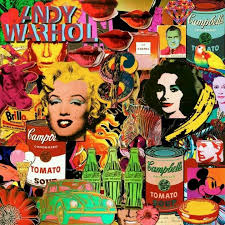 pop art collage homage to andy warhol