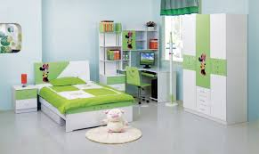 Kids Bedroom Suits Kids Room Green Accent Bed Set And Computer Desk Set Also