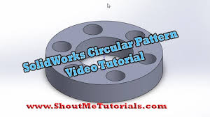 Circular Pattern Solidworks Unique Learn SolidWorks Circular Pattern Feature Video Tutorial