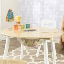 kidkraft round storage table 2 chair set natural white 4