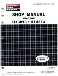 honda ht3813 ht4213 lawn tractor shop manual repair manuals online honda ht3813 ht4213 lawn tractor shop manual 001