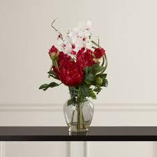 Silk Arrangements For Home Decor Peony Silk Flowers Reviews Flowers Ideas