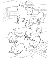 Small Picture Coloring Book Pages Of Farm Animals Coloring Pages