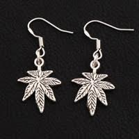 Silver Leaf Dangle Earrings for <b>Sale</b>
