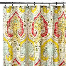 uphome 72 x 72 inch bright india tropical shower curtain with paisley patterns bright red and yellow heavy duty cute fabric shower curtain for women