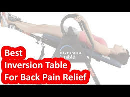 inversion tables back pain