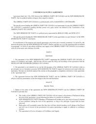Sample restaurant supply agreement template. Confidence Supply Agreement Liberal Ndp Cmhocpress