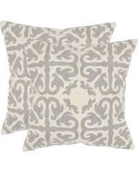 moroccan throw pillows. Light Gray Moroccan Throw Pillows - 2 Pack (22\