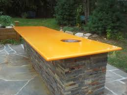outdoor kitchen best counter top surface enameled lava stone made