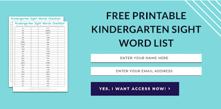 kindergarten sight words how to teach