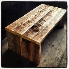 kerf reclaimed barn board coffee table