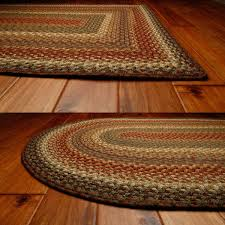 decorating handmade round braided rugs in multicolor for floor