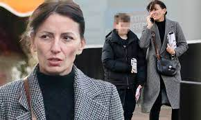 Davina McCall cuts a stylish figure in a checked coat as she treats her son  Chester to breakfast | Daily Mail Online