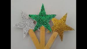How To Make A Christmas Star With Chart Paper How To Make Diy Glitter Stars For Decorating Christmas Trees