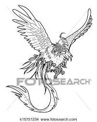 Drawings Of Phoenix Clipart Of Phoenix K15751234 Search Clip Art Illustration Murals